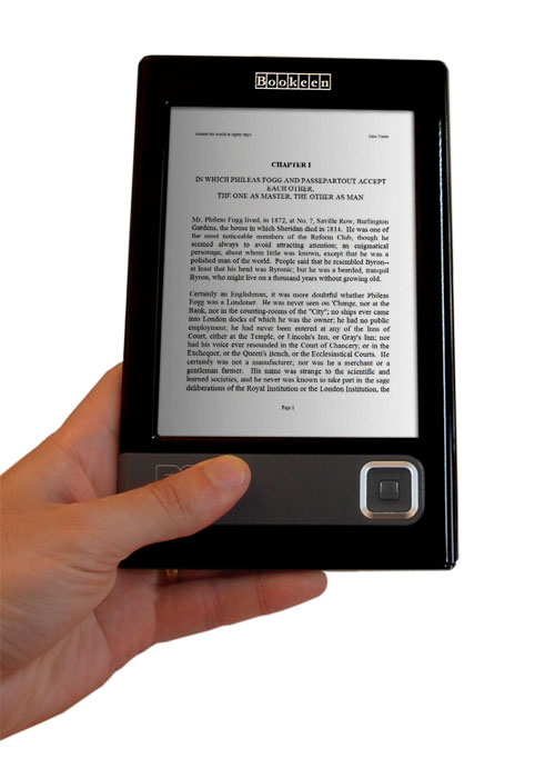 Cybook en una mano